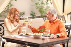 Par på restaurant